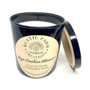 Baja cactus blossom scented soy candle